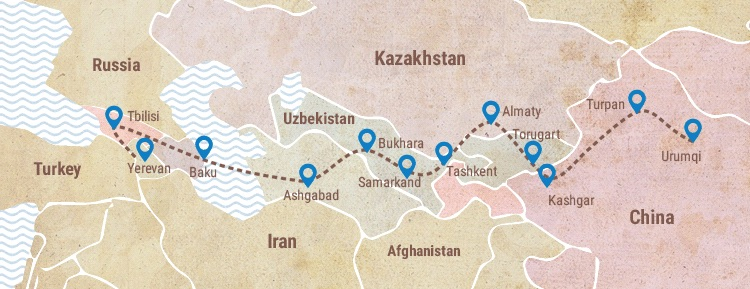Itinerario Mapa Ruta de la Seda